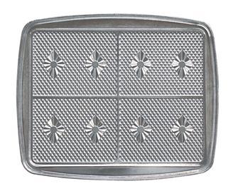 Wechselplatte für 4 Eiswaffeln für das Waffeleisen gatgau04