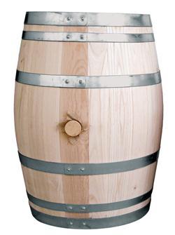 Fass aus Kastanienholz, 110 Liter.