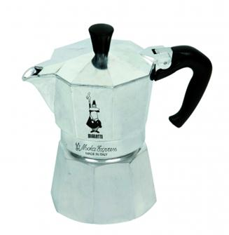 Italienischer Espressokocher, Aluminium, 4 Tassen