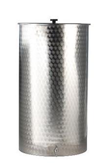 Behälter aus Edelstahl mit einem Fassungsvermögen von 400 Liter.