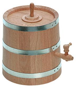Essigbehälter aus Eichenholz, 3 Liter