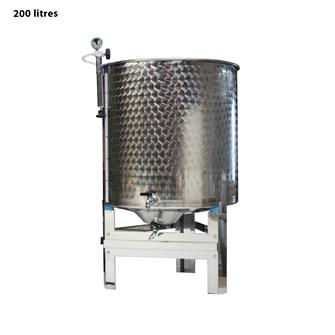 Lagertank für Wein, Edelstahl, 200 l, komplett