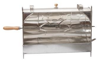 Smokergrill, manuell, aus weißem Eisen, 60 cm
