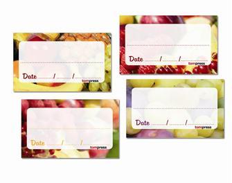 84 Etiketten für Obstkonserven und Marmeladen