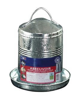 Verzinkte Geflügeltränke 5 Liter