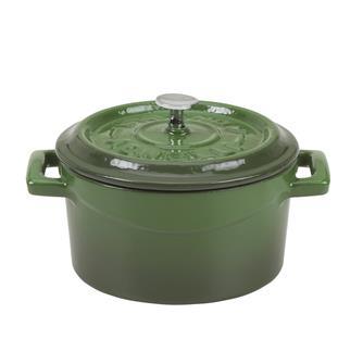 Kleiner gusseiserner Schmortopf 14cm, grün