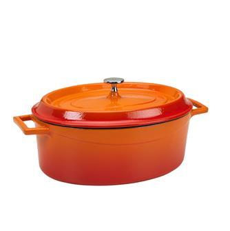 Ovaler Schmortopf 29x22, orange