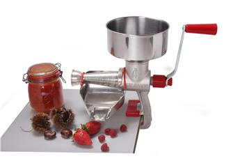 Entkerner/manuelle Tomaten- und Fruchtpresse aus Guss und Edelstahl