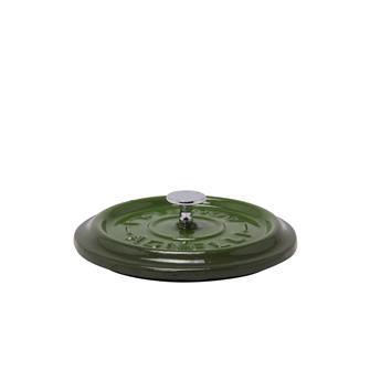 Runder Deckel, Gusseisen, grün