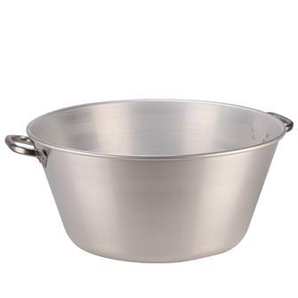 Aluminiumschüssel für Fett und Marmelade 62 Liter