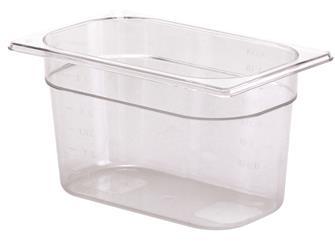 Gastrobehälter BPA-frei, GN1/4, Höhe 15cm, aus Copolyester