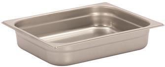 Gastronorm-Behälter Edelstahl, GN1/2, Höhe 6,5cm, EN631