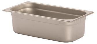 Gastronorm-Behälter Edelstahl, GN1/3, Höhe 10cm, EN631