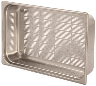 Edelstahl-Gastrobehälter GN1/1, gelocht, Höhe 10cm, EN631