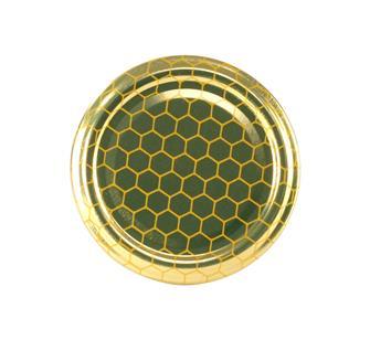 63-mm-Twist-off-Deckel für Honigglas, Waben, 10 Stück