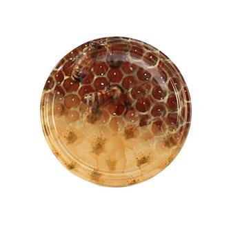82-mm-Twist-off-Deckel für Honigglas, Waben, Blumen, 10 Stück