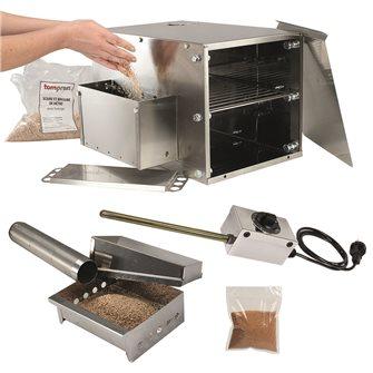 Tisch Räucherofen von Tom Press mit Zubehör für Kaltrauchern und Reistor