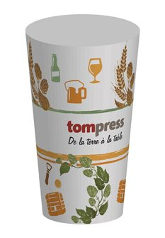 Gobelets réutilisables Tom Press motif bière