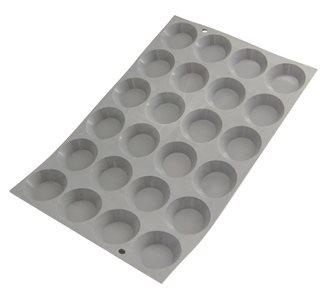 Silikonform für 24 runde Mini-Törtchen