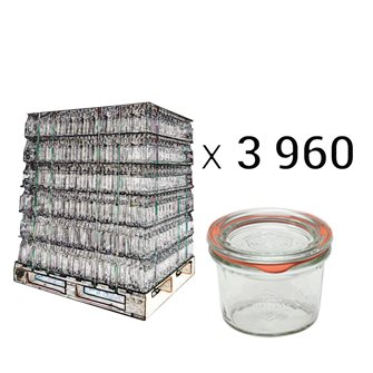 Weck Sturzgläser 80 ml Palette mit 3960 Stück
