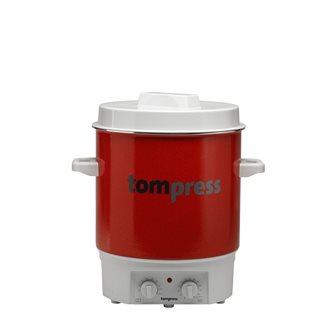 Elektrischer Pasteurisierer emailliert, mit Timer, Tom Press