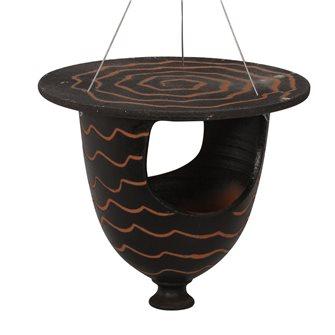 Mangeoire urne pour oiseaux noire