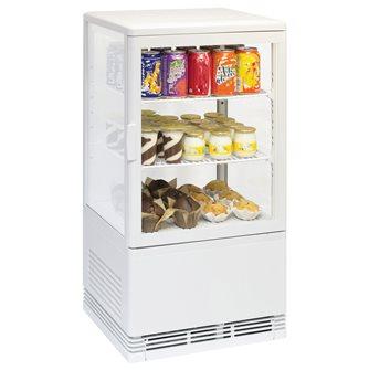 Vitrine réfrigérée petit modèle transportable 58 litres éclairée à poser