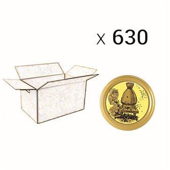 Capsules Twist-off miel ruche paille Diam 82 par 630