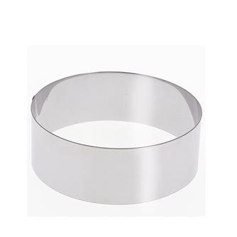 Cercle inox 18 cm haut 6 cm pour vacherin et autres pâtisseries