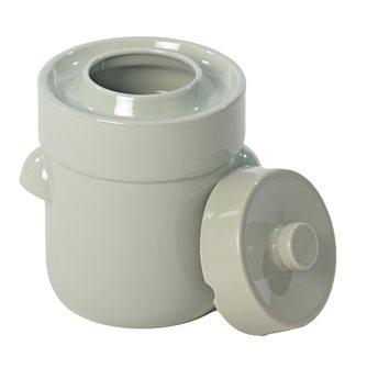 Pot à choucroute / lactofermentation 5 litres couleur vert d´eau