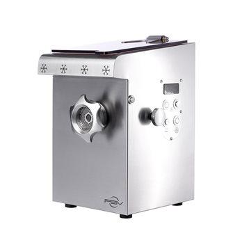 Hachoir à viande réfrigéré inox compact double coupe H82 1 100 W monophasé