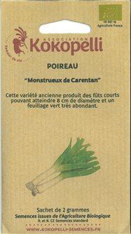 Graines de poireau de Carentan