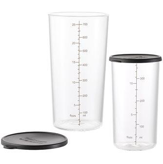 Set de 2 gobelets en verre avec couvercles Bamix 400 et 700 ml