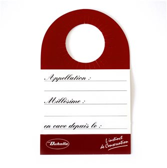 Etiquettes de cave pour goulot de bouteille rouge cartonnée par 20